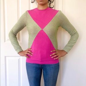 Opening Ceremony pink and gold sweater XS SW